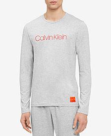 Calvin Klein Men's Logo Long-Sleeve Cotton T-Shirt