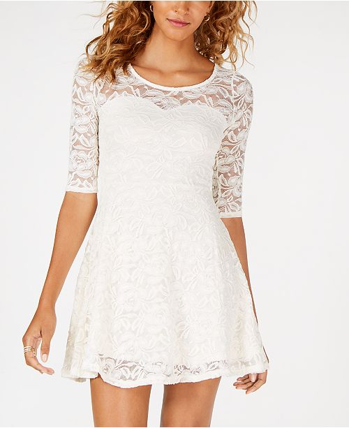 435617eb3b7f4 ... Material Girl Juniors' Lace Sweetheart Dress, Created for Macy's ...