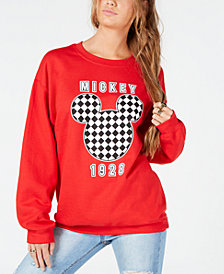 Modern Lux Juniors' Checkered Mickey Mouse Sweatshirt