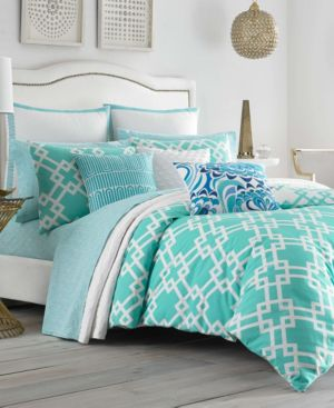 Trina Turk Avalon Aqua Twin Duvet Set Bedding 6245801