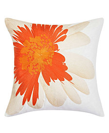Trina Turk Palm Desert Soft Daisy Cantaloupe Square Pillow