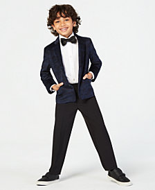 Nautica Little Boys 4-Pc. Velvet Suit Set