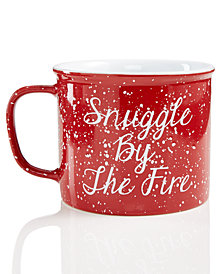 Martha Stewart Collection Red Speckle Holiday Mug, Created for Macy's