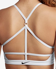 Nike Indy Compression Low-Impact Strappy-Back Sports Bra