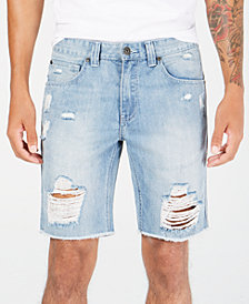 I.N.C. Men's Ripped Denim Shorts, Created for Macy's
