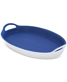Dark Blue Ceramic Serving Platter