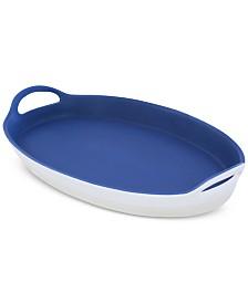 CLOSEOUT! Thirstystone Dark Blue Ceramic Serving Platter