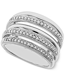 Diamond Multi-Layer Statement Ring (1/4 ct. t.w.) in Sterling Silver