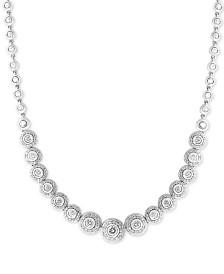 Diamond Bezel-Set Halo Statement Necklace (1-7/8 ct. t.w.) in 14k White Gold