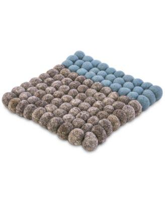 Felted Wool Pom Pom Trivet