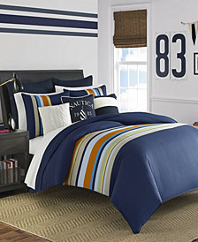 Nautica Heritage Sailing Stripe Comforter and Duvet Set Collection