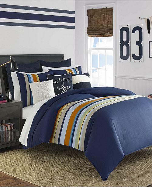 Nautica Heritage Sailing Stripe Twin Comforter Set