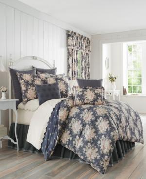 Closeout! Piper & Wright Braylee Indigo Queen Comforter Set Bedding