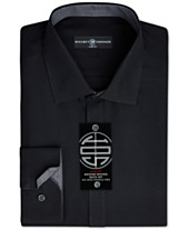 755de706 Society of Threads Men's Slim-Fit Non-Iron Performance Solid Dress Shirt