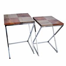 Courtly Elegant Set of 2 Side Tables