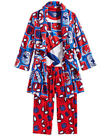 Spider-Man Little & Big Boys 3-Pc. Robe, Top & Pants Pajama Set