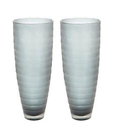 Smoke Matte Cut Vases