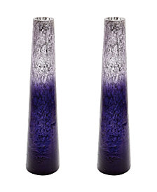 Plum Ombre Snorkel Vases- Set of 2