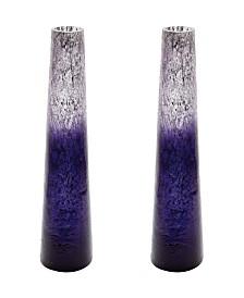 Plum Ombre Snorkel Vases- Set of 2
