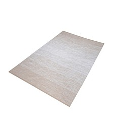 Delight Handmade Cotton Rug In Beige And White