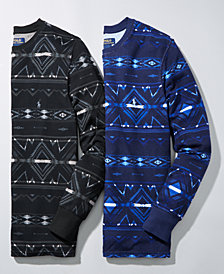 Polo Ralph Lauren Men's Beacon Print Waffle-Knit Thermal