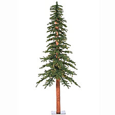 Vickerman 7' Natural Alpine Artificial Christmas Tree with 300 Clear Lights