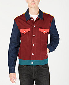 Calvin Klein Jeans Men's Colorblocked Western Jacket