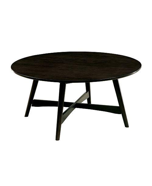 Furniture of America Raini Round Coffee Table