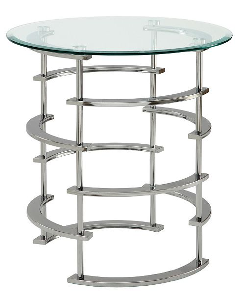 Furniture of America Intra Chrome End Table
