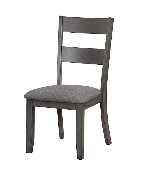 Furniture of America Murang Gray Side Chair (Set of 2)