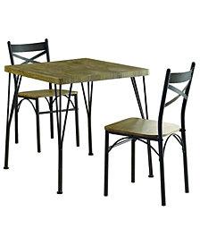 Kelle 3pc. Table Set, Quick Ship