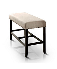Langly Upholstered Pub Bench, Quick Ship