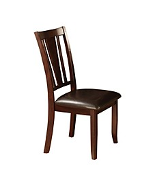 Rosewood Espresso Padded Side Chairs, Set of 2