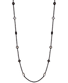 "DKNY Crystal & Stone 42"" Strand Necklace, Created for Macy's"