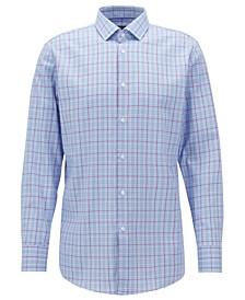 BOSS Men's Slim Fit Checked Cotton Shirt