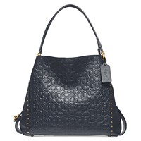 Deals on COACH Edie 31 Signature Embossed Leather Shoulder Bag