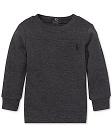 Polo Ralph Lauren Baby Boys Waffle-Knit Long-Sleeve T-Shirt