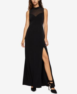 BCBGeneration Womens Sleeveless Illusion Neck and Back Dress