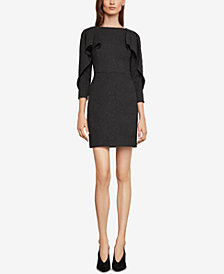 BCBGMAXAZRIA Draped-Shoulder Sheath Dress