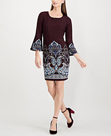 I.N.C. Bell-Sleeve Shift Dress, Created for Macy's