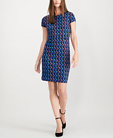 I.N.C Petite Ponte Cap-Sleeve Dress, Created for Macy's