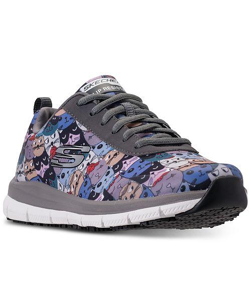 Skechers Women's Work Relaxed Fit: Comfort Flex HC Pro - Scratchey Slip Resistant Walking Sneakers from Finish Line