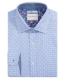 Con.Struct Men's Slim-Fit Stretch Floral Medallion Dress Shirt