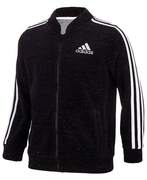 size 40 99db5 2e21e ... adidas Big Girls Velour Bomber Jacket ...