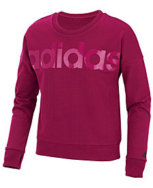 adidas Big Girls Cropped Sweatshirt