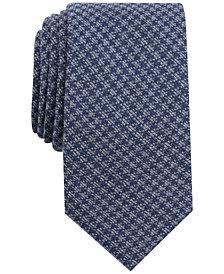 Tallia Men's Sew Houndstooth Skinny Tie