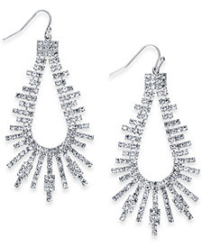 "Thalia Sodi Extra Large Crystal Bar Open Drop Earrings, 2.75"", Created for Macy's"