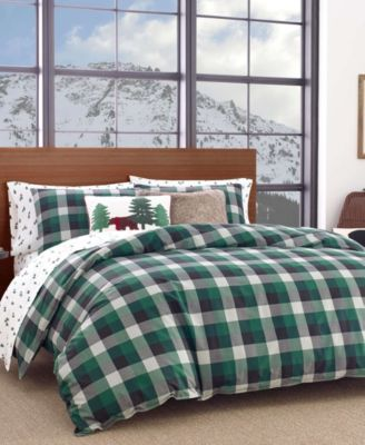 Birch Cove Plaid Dark Pine Twin Comforter Set