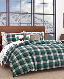Eddie Bauer Birch Cove Plaid Dark Pine Twin Duvet Set