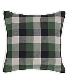 Finley Plaid Dark Pine Square Pillow